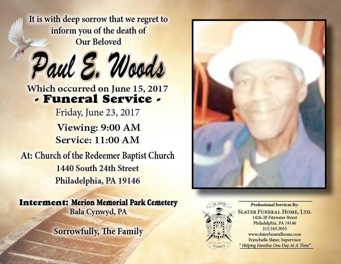 Paul E. Woods Sr., 61, retired union shop steward | Obituaries ...