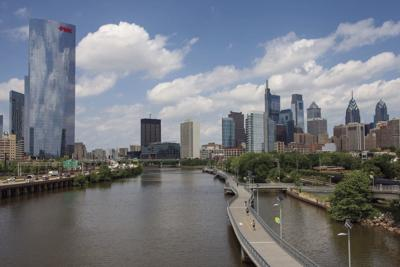 Schuylkill Banks Boardwalk, Philadelphia Skyline