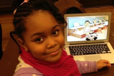 First-grader creates mobile app video game