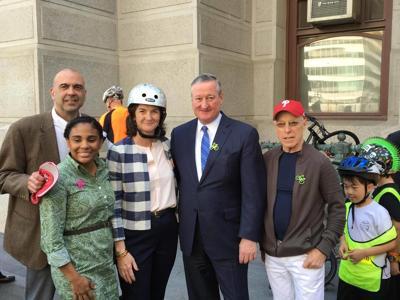 Jim Kenney and bike advocates