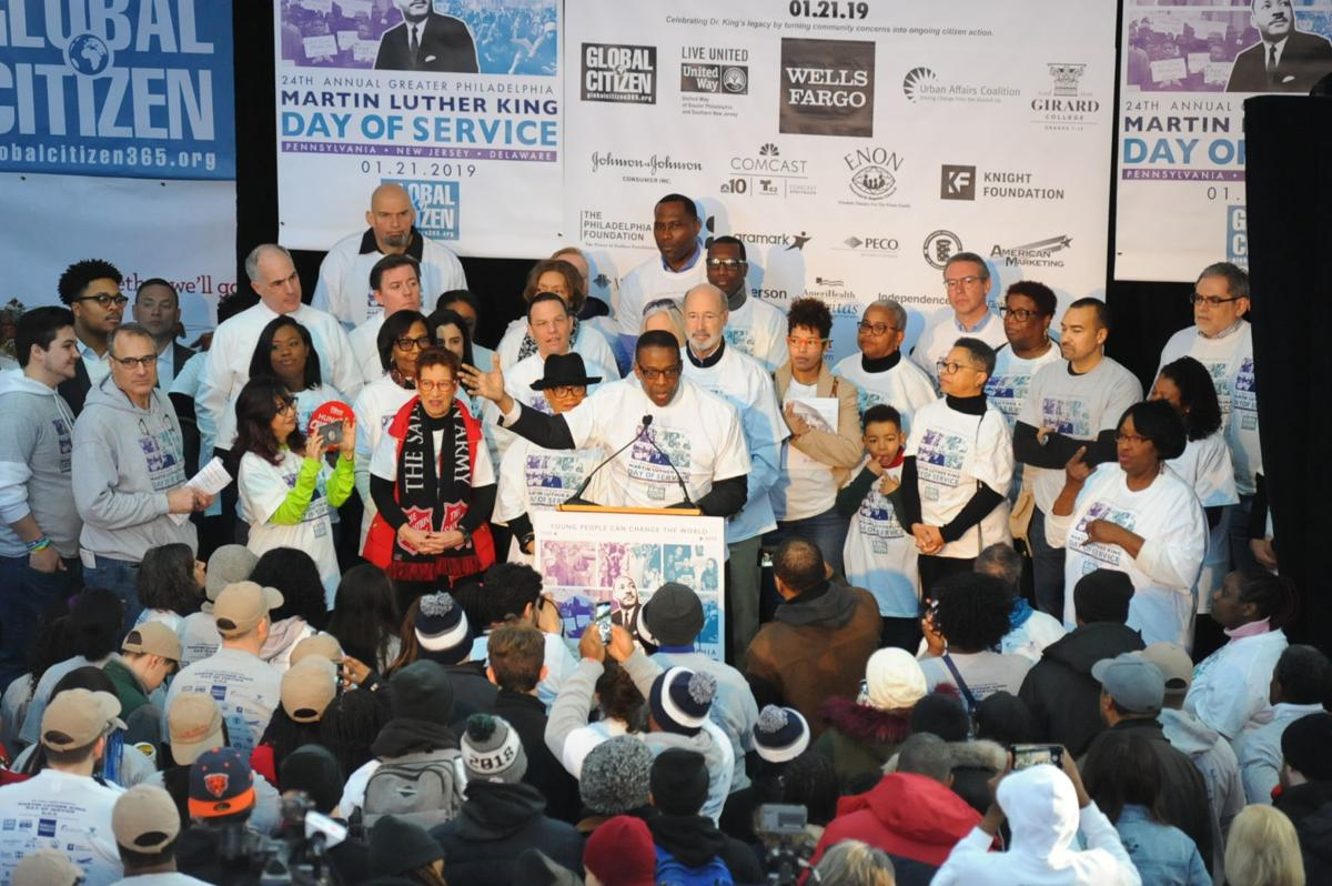 Darrell Clarke speaks at Martin Luther King Jr. Day of Service