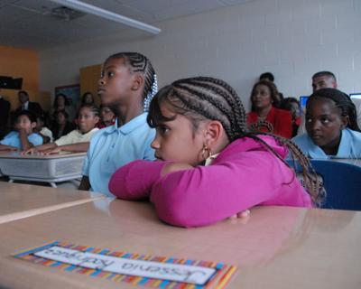 Students at H.B Wilson Elementary School
