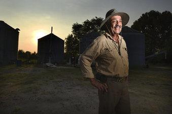 Charles Thompson photographed at his East Augusta, Georgia farm. — Michael Holahan/The Augusta Chronicle via AP