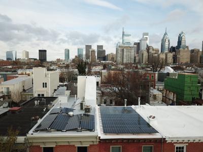 Solar panels on rowhomes