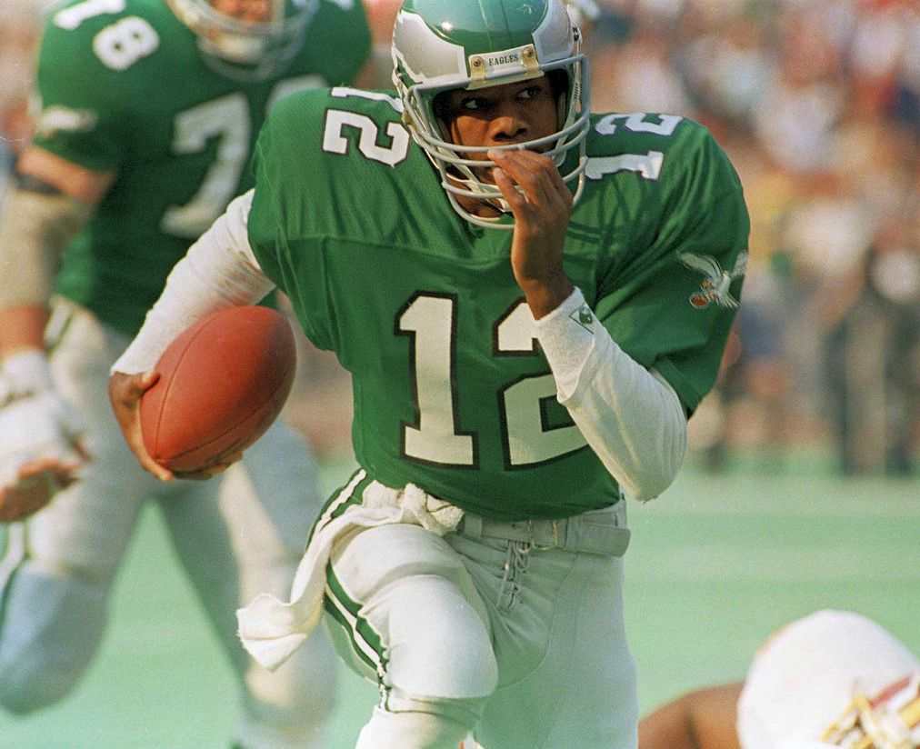 Randall Cunningham was a four-time Pro Bowler, two-time NFL Most Valuable Player and a three-time Bert Bell Award winner.  — TRIBUNE FILE PHOTO