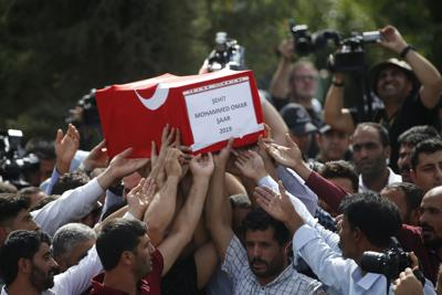 Mourners in Turkey