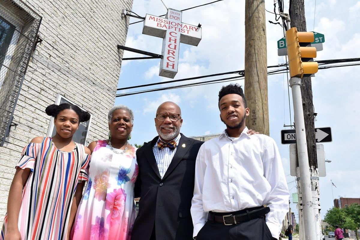 The first family of Greater Enon Missionary Baptist Church. From left, daughter Joy Robinson, first lady Dana Robinson, the Rev. Michael Robinson, and son Matthew Robinson. — TRIBUNE PHOTOS BY RONALD GRAY