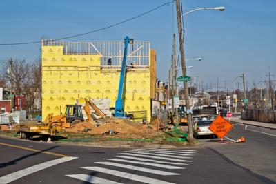 Construction at 3300 Mantua Avenue