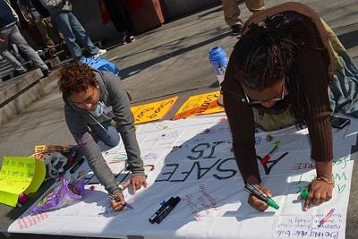 Rally-goers hope street harassment takes turn