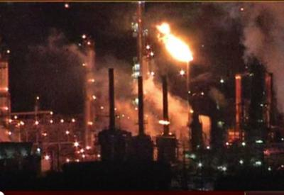 Refinery fire