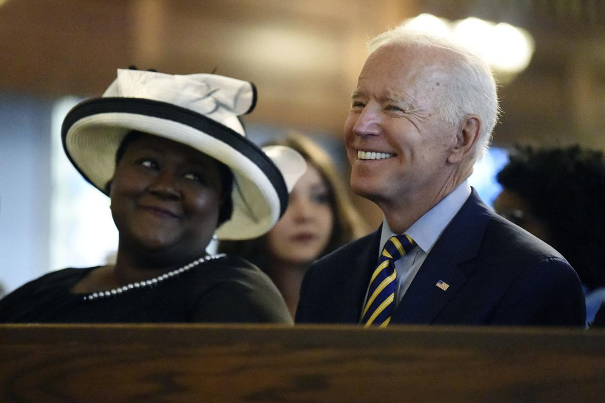 In this July 7 file photo, Democratic presidential candidate and former vice president Joe Biden attends a Sunday service at Morris Brown AME Church in Charleston, South Carolina. — AP Photo/Meg Kinnard, File