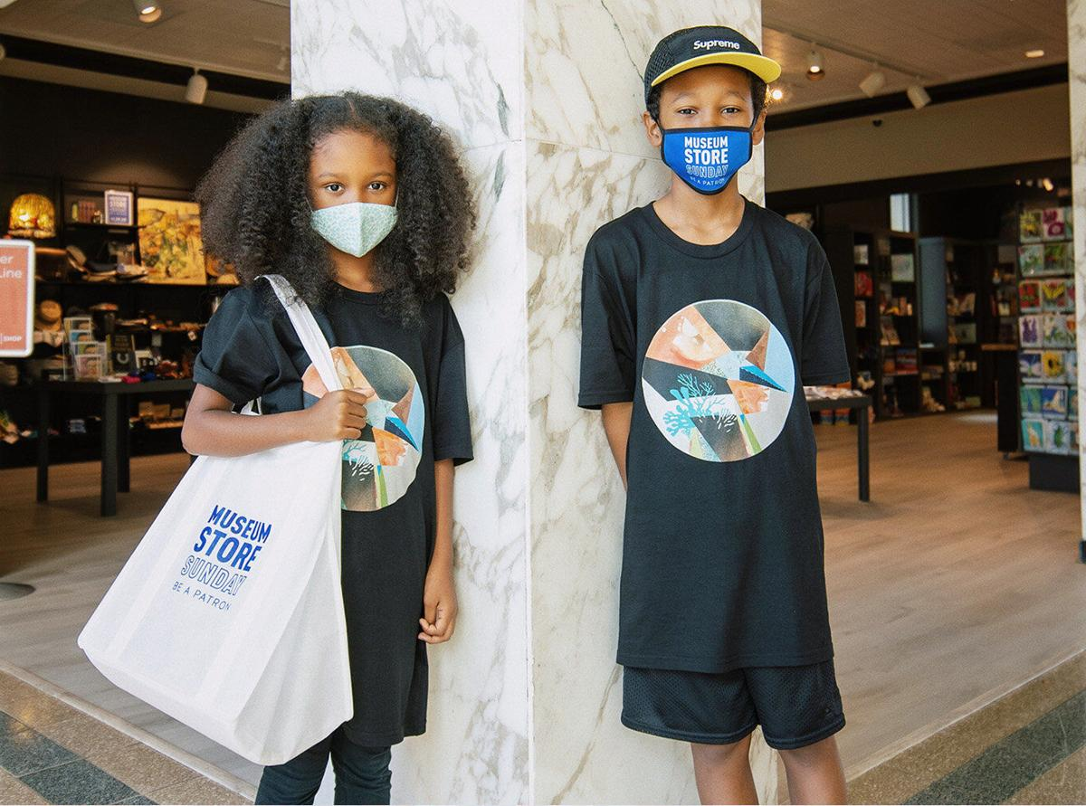 Museum Store Sunday 2020 kids with masks