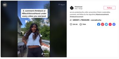 TikTokers stand in solidarity with Black creators to protest censorship