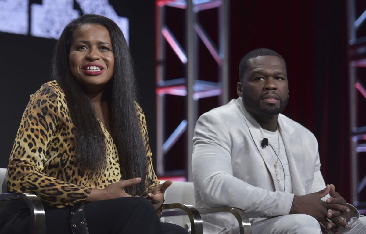 "2019 Summer TCA - Starz - Courtney A. Kemp, left, and Curtis ""50 Cent"" Jackson"