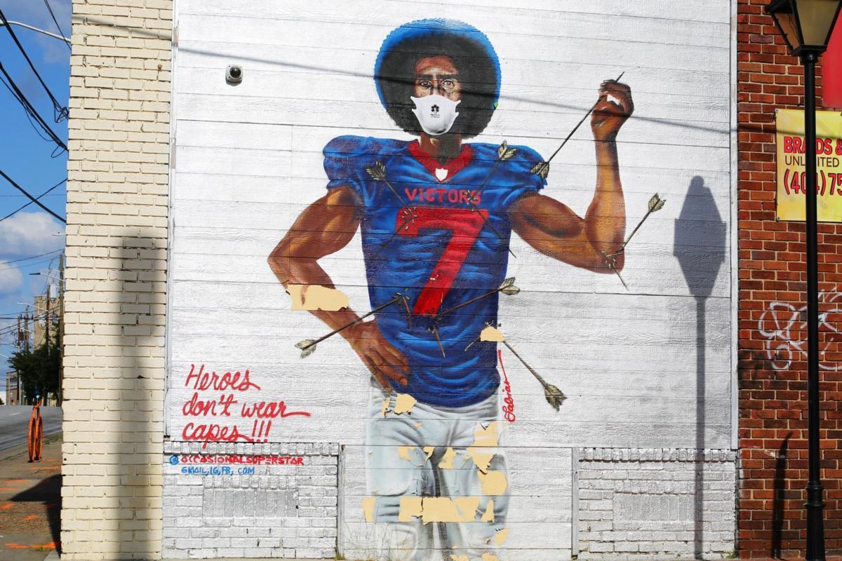 Black Mural masked Kaepernick