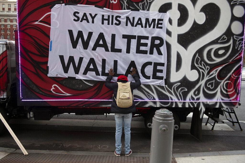 Walter Wallace Jr. banner