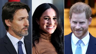 Justin Trudeau, Meghan Markle and Prince Harry