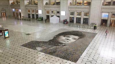 Ida B. Wells mural at Washington's Union Station