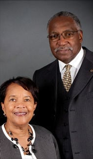 The Rev. Richard Dent and first lady Beatrice Dent have been at First Baptist Church of Darby Township in Sharon Hill for 34 years. — SUBMITTED PHOTO