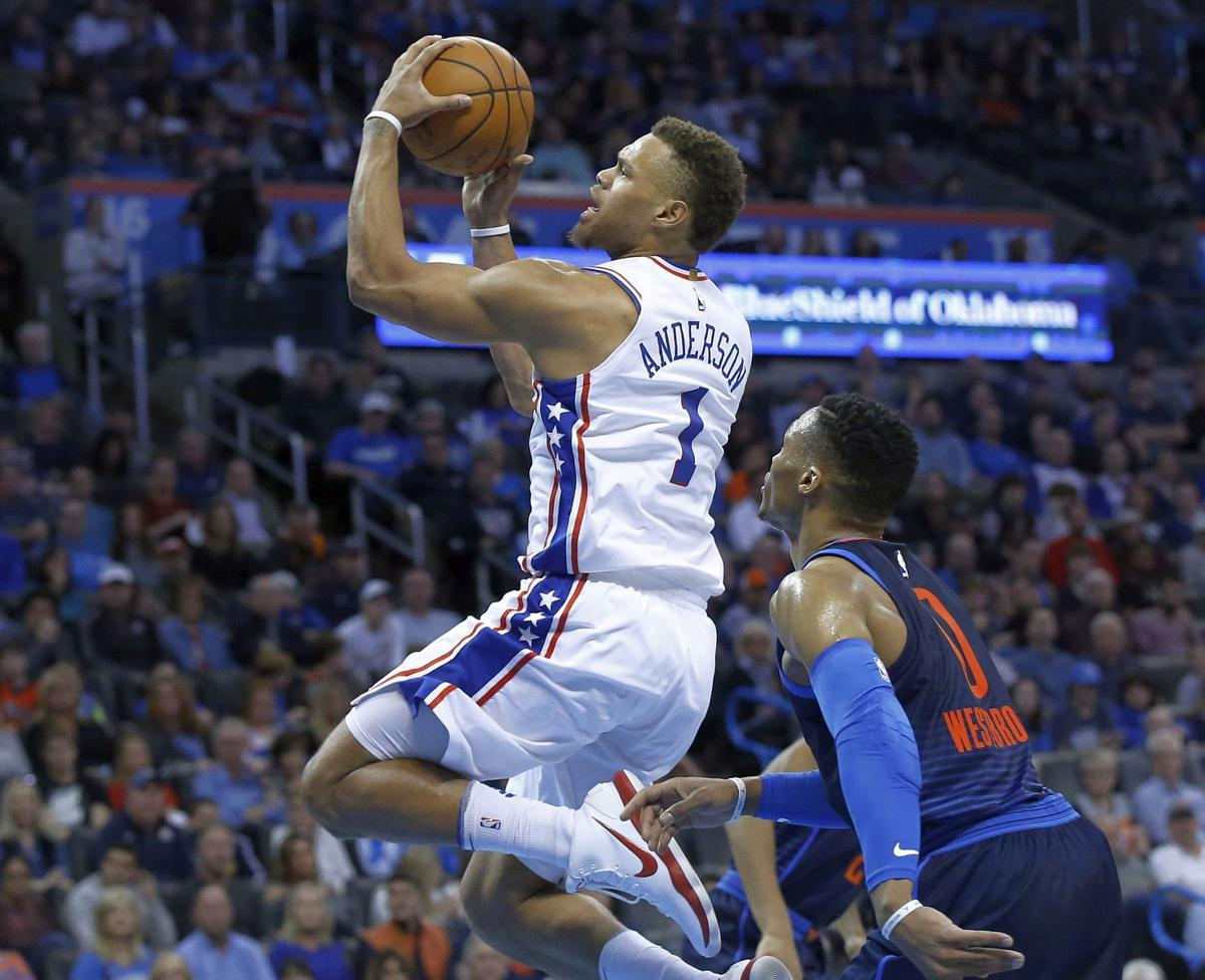 Anderson in action for Sixers | phillytrib.com