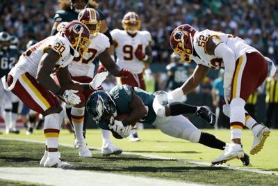 Eagles' running backs showed plenty of promise