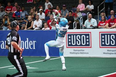 James Romain is a key behind the Soul defense. — PHOTO COURTESY OF THE PHILADELPHIA SOUL