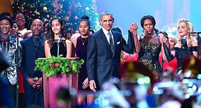 Malia Obama, Sasha Obama, Barack Obama, Michelle Obama, Aloe Blacc, Aloe Blacc, Darius Rucker, Rita Ora