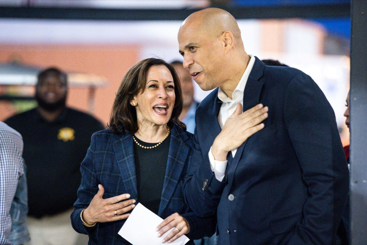 Kamala Harris and Cory Booker