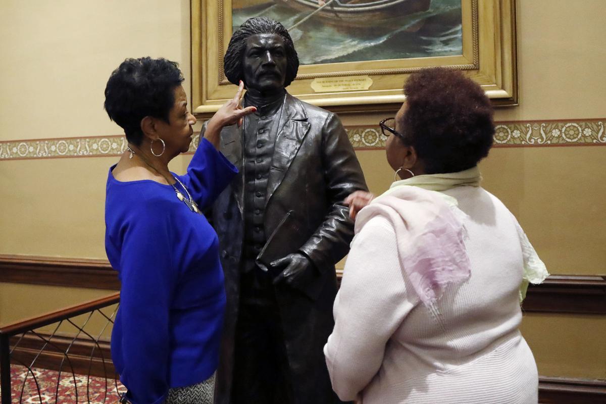 Tubman Douglass Statues