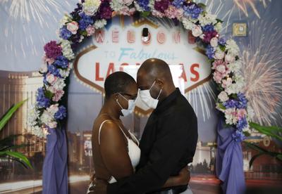 Virus Outbreak Vegas Weddings
