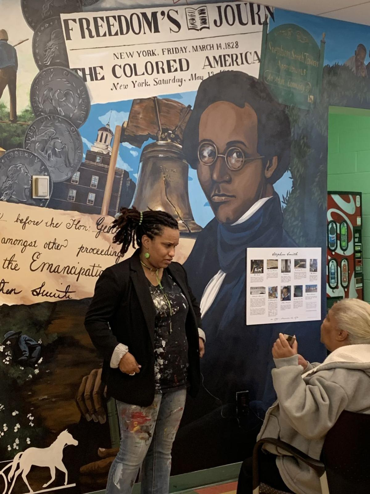 Mural dedication honors abolitionist Stephen Smith