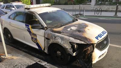 cop car burned