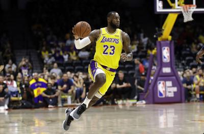 f547b5cb4 LeBron James opens new fan era in Lakers debut
