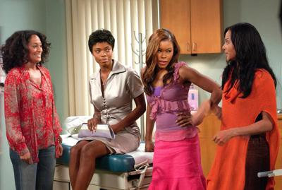 GIRLFRIENDS, (from left) Tracee Ellis Ross, Jill Marie Jones (sitting), Golden Brooks, Persia White,
