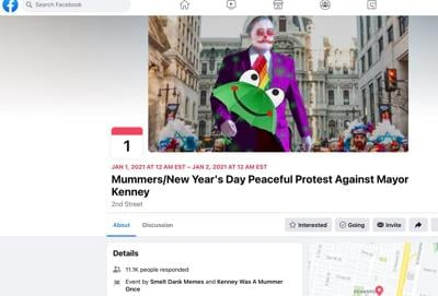 'Mummers' protest page