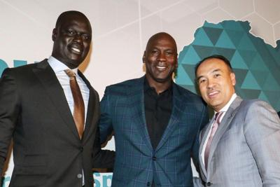 Amadou Fall, Michael Jordan and Mark Tatum