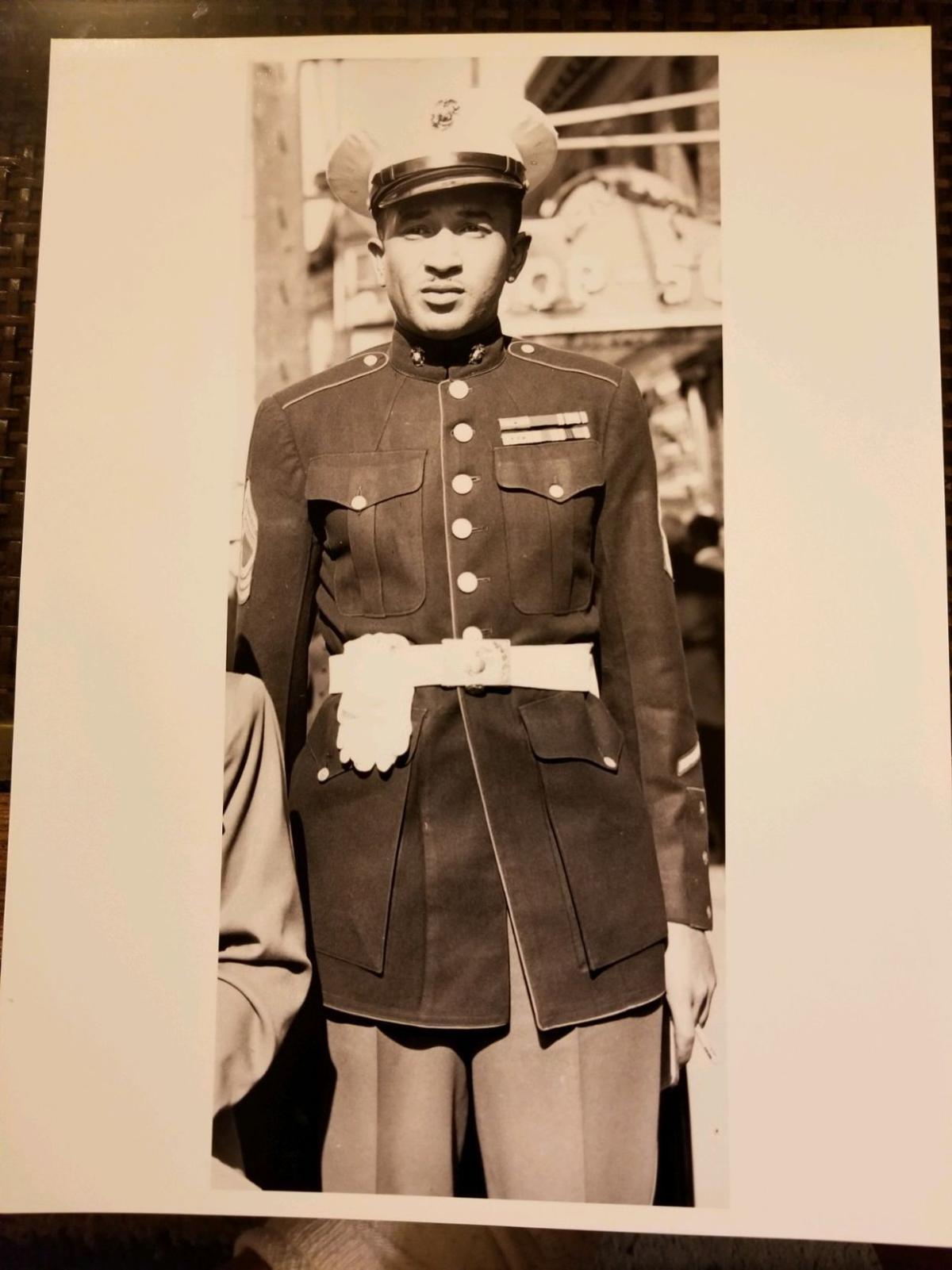 Montford Point Marine Sgt. Maj. Cecil B. Moore