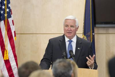 gov. tom corbett, shown here giving a recent address at ben franklin institute's techventures
