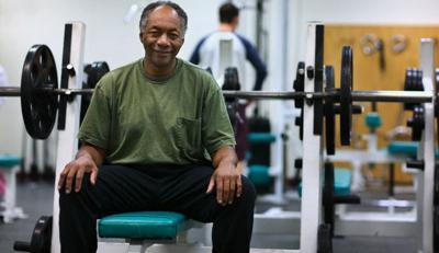Black man weights