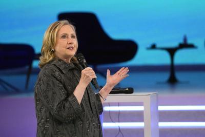 US former Secretary of State Hillary Clinton