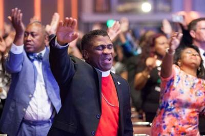 Pastors worship at the Global United Fellowship gathering in Baltimore in 2018. — Facebook/The Christian Post