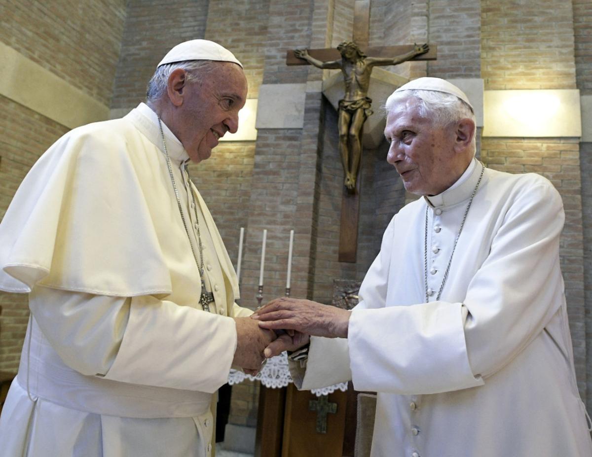 Pope Francis and Pope Benedict XVI