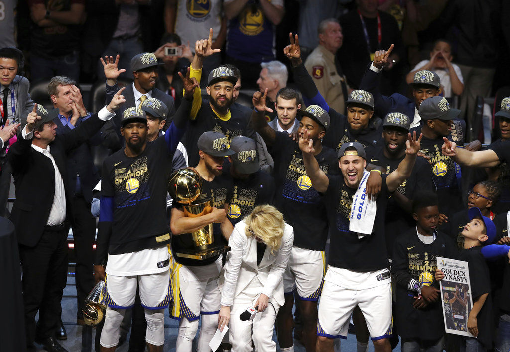 6feb6a51c313 Dub Dynasty  Warriors sweep Cavs for second straight title