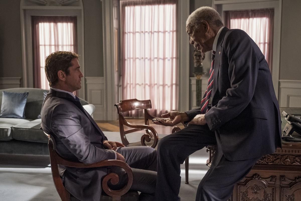 Film Review Angel Has Fallen - Gerard Butler and Morgan Freeman