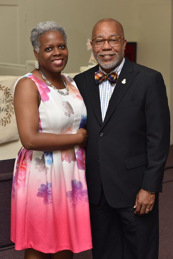 First lady Dana Robinson and the Rev. Michael Robinson of Greater Enon Missionary Baptist Church. — TRIBUNE PHOTOS BY RONALD GRAY