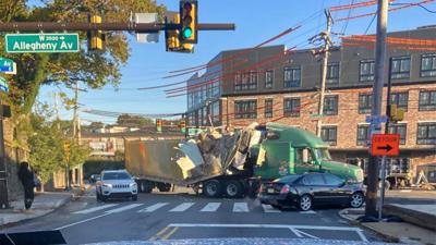 Damaged truck