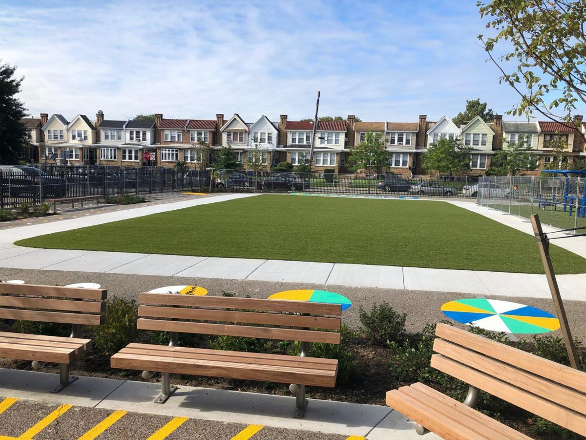 Ben Franklin Elementary gets a playground — a first for a