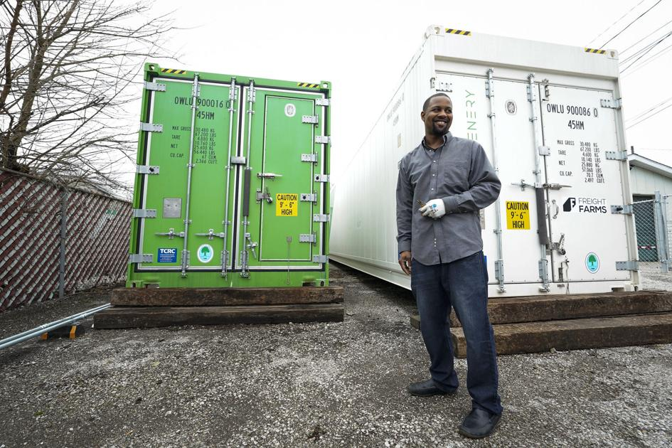 Entrepreneur finds success with hydroponics container farm on vacant lot