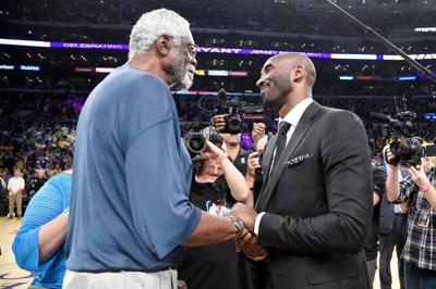 Bill Russell and Kobe Bryant