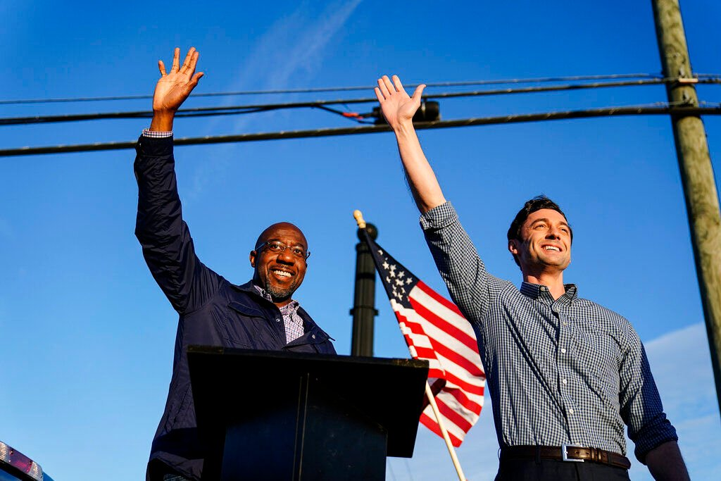 Raphael Warnock and Jon Ossoff